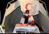 برپایی ایستگاه سلامت در بندرعباس توسط هلال احمر+تصاویر