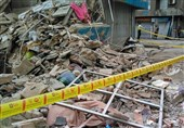 ریزش ساختمان در منطقه فلاح/ مدفون شدن چند نفر زیر آوار + تصاویر