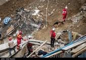 کشف 2 جسد از محل حادثه آوار در خیابان فلاح و پایان عملیات جستوجو
