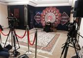 سخنرانی شیخ حسین انصاریان با کپسول اکسیژن در منزل شخصی + عکس
