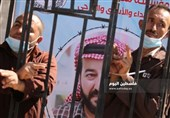 غزه| تجمع همبستگی با ماهر الاخرس در برابر مقر صلیب سرخ