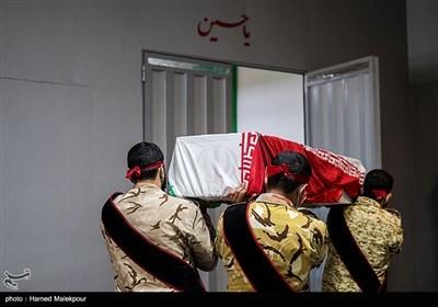 مراسم وداع با پیکر شهید مدافع حرم زکریا شیری