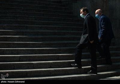 اسحاق جهانگیری معاون اول رئیس جمهور و بیژن زنگنه وزیر نفت در حاشیه جلسه هیئت دولت