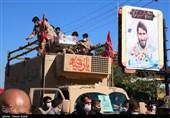 یک شهر به احترام شهید مدافع حرم ایستاد / پیکر شهید بلباسی به آرامگاه ابدی رفت
