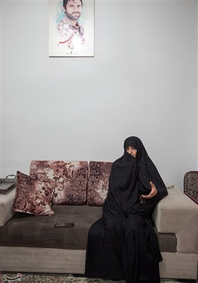 مادر شهید مدافع حرم محمود رادمهر