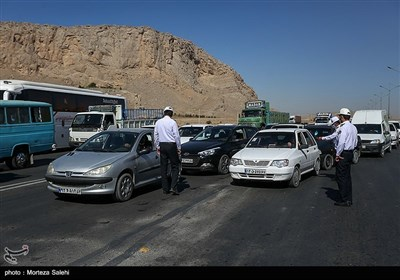 اجرای طرح منع عبور ومرور در پلیس راه اصفهان -شیراز