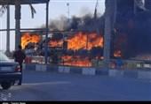 کالاهای مردم قشم در آتش بیتدبیری خاکستر شد + عکس و فیلم