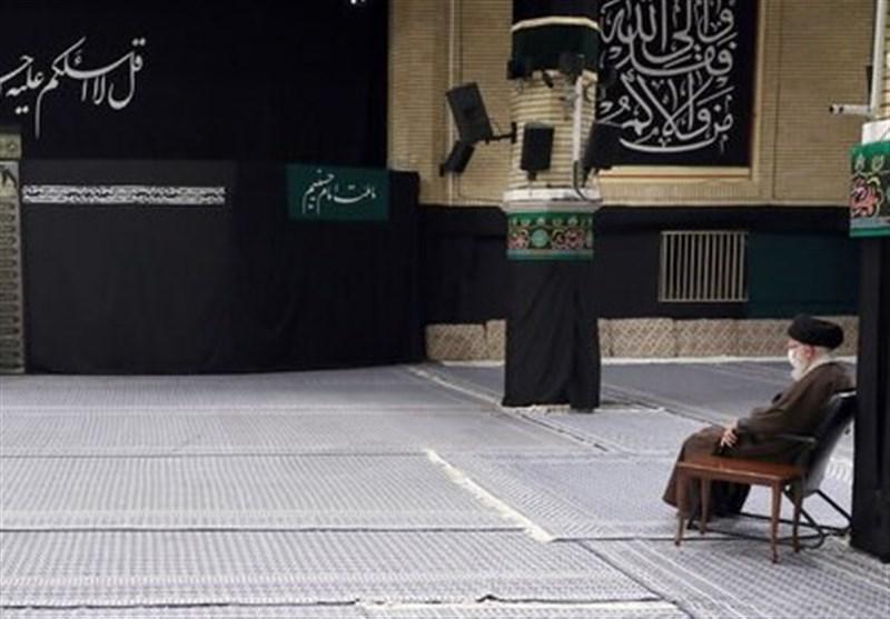 مراسم عزاداری رحلت رسول اکرم(ص) و شهادت امام حسن(ع) با حضور رهبر انقلاب برگزار شد