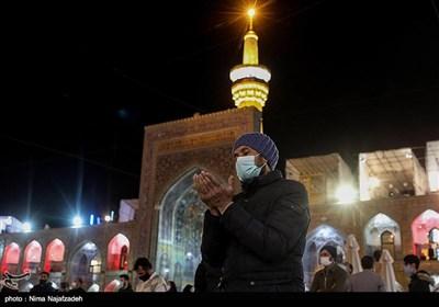 حرم رضوی در شب رحلت پیامبر اکرم(ص) و شهادت امام حسن مجتبی(ع)