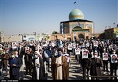تشییع شهید «ذکریا شیری» در گلزار شهدای قزوین به روایت تصاویر
