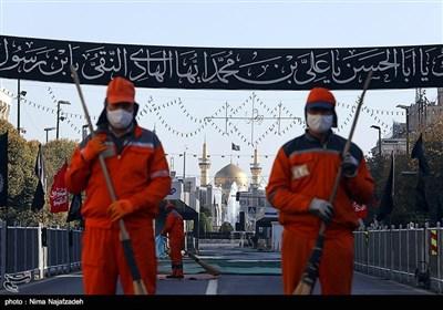 ضد عفونی خیابان های اطراف حرم امام رضا (ع)