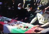 پیکر شهید امنیت در یاسوج تشییع شد + تصاویر
