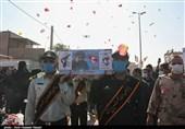 تشییع باشکوه پیکر شهید مدافع حرم در اقبالیه / شهید زکریا شیری در زادگاهش آرام گرفت + تصاویر