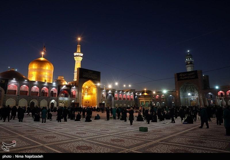 مشہد مقدس: شہادت امام رضا علیہ السلام کی مناسبت سے حرم مطہر میں عزاداری کی تصویری رپورٹ