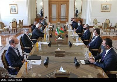دیدار عبدالله عبدالله رییس شورای عالی صلح افغانستان با ظریف وزیر امورخارجه