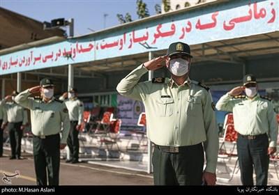 مراسم صبحگاه مشترک نیروی انتظامی به مناسبت هفته ناجا