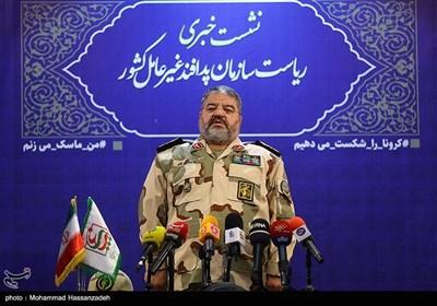نشست خبری سردار غلامرضا جلالی رئیس سازمان پدافند غیرعامل