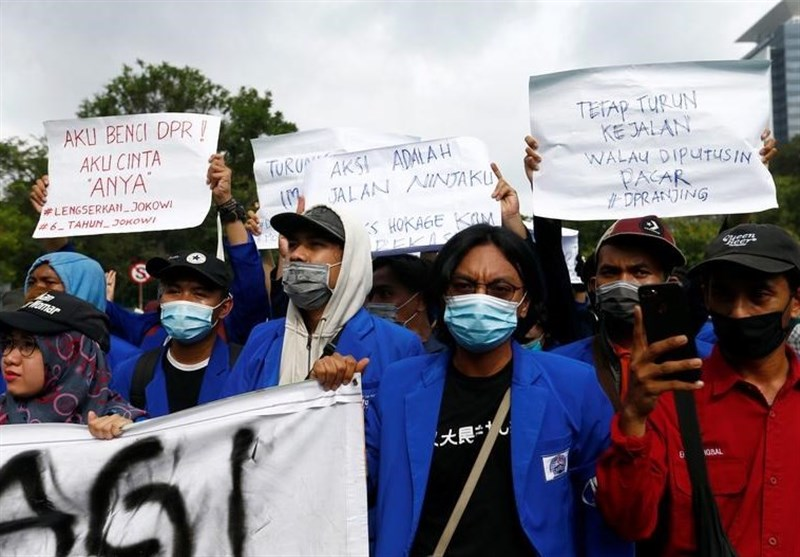 Thousands Join Protest against Indonesia Jobs Law
