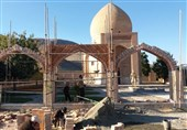 ساخت دیوار ضلع ورودی سایت موزه چالدران به پایان رسید