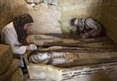 کشف تازه تابوتهای باستانی در گورستان ممفیس + تصاویر