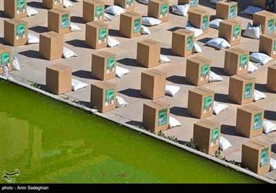توزیع 1500 بسته معیشتی از محل موقوفه مسجد نصیرالملک