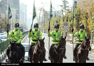 رژه اسب سواران یگان ویژه نیروی انتظامی