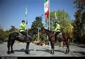 """رژه """"اسواران"""" یگانویژه نیروی انتظامی در خیابان ولیعصر (عج)"""