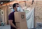 توزیع بیش از 100 بسته مواد غذایی توسط رحیمی و گنجزاده