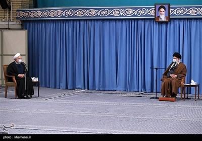 امام خامنہای کے موجودگی میں انسداد کورونا کمیٹی کا اجلاس