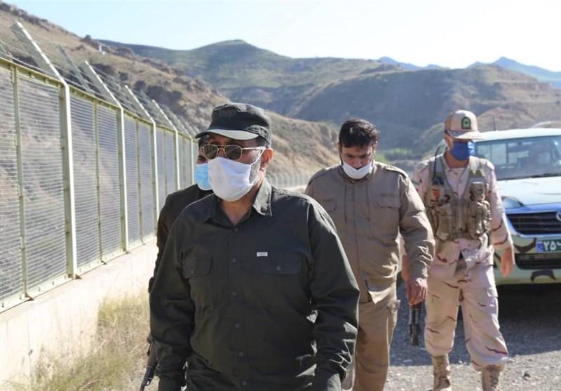 بازدید جانشین فرمانده نیروی انتظامی از یگانهای مرزی شهرستان خدا آفرین