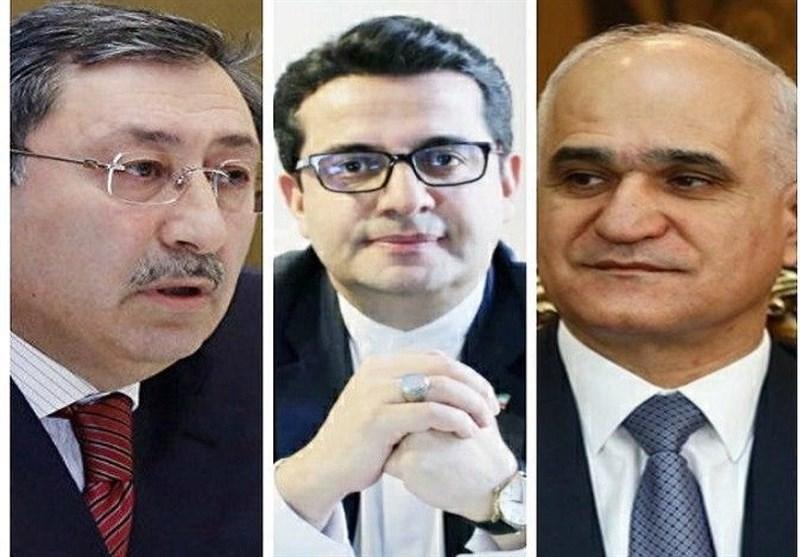 گفتگوی سفیر ایران در باکو با دو مقام بلندپایه جمهوری آذربایجان