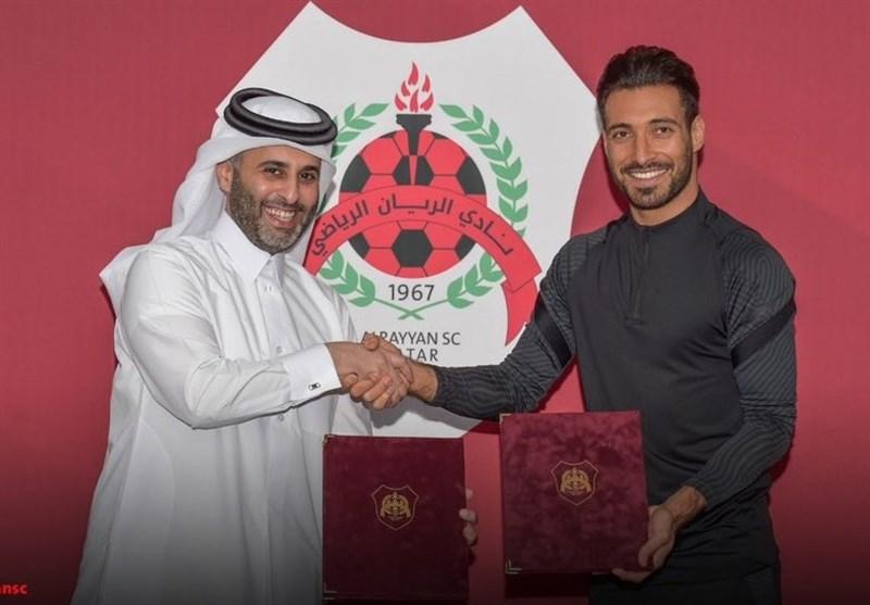شجاع خلیلزاده به الریان قطر پیوست/ بوسه بر لوگوی پیراهن جدید! + عکس