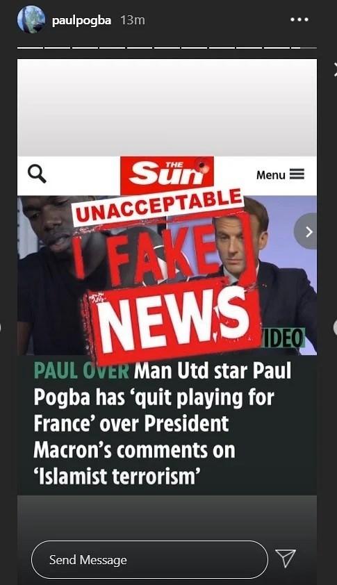 پل پوگبا , تیم ملی فوتبال فرانسه , امانوئل ماکرون ,