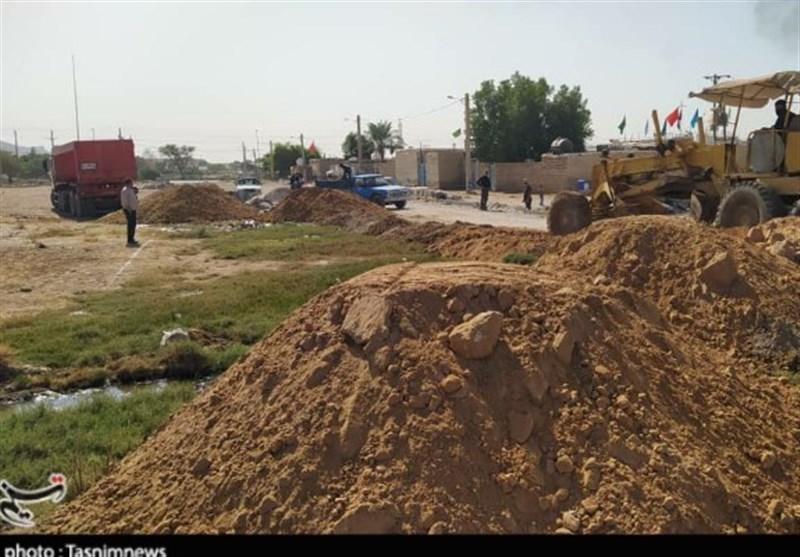 خوزستان  فعالیتهای محرومیت زدایی در کوی یاسر امیدیه + تصویر