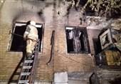 آتشسوزی ساختمان 3 طبقه در خیابان ولیعصر + فیلم و تصاویر