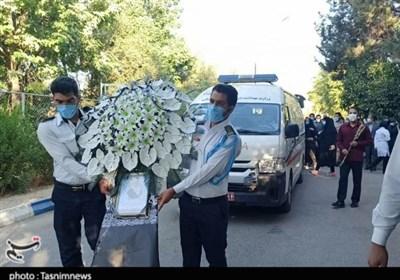 مراسم بدرقه و تشییع پیکر شهید مدافع سلامت دزفول به روایت تصاویر