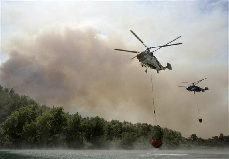 آتشسوزی گسترده در جنوب ترکیه/ دهها نفر منازل خود را ترک کردند