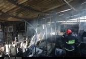 7 انبار سازمان اموال تمکیلی در ارومیه طعمه حریق شد / شعلههای آتش مهار شده است