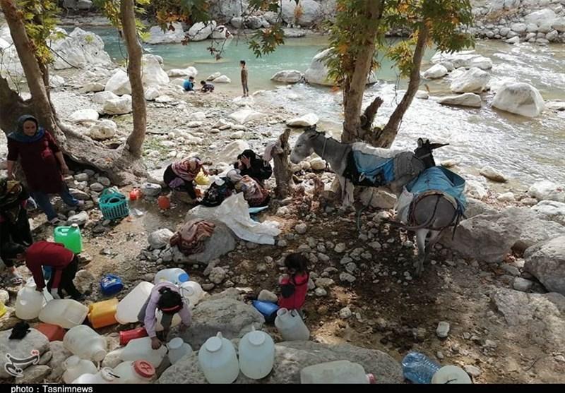 گزارش|بحران آب در 3 روستای شهرستان مارگون / «رنج و مشقت» برای زنان کولبر آب+تصاویر
