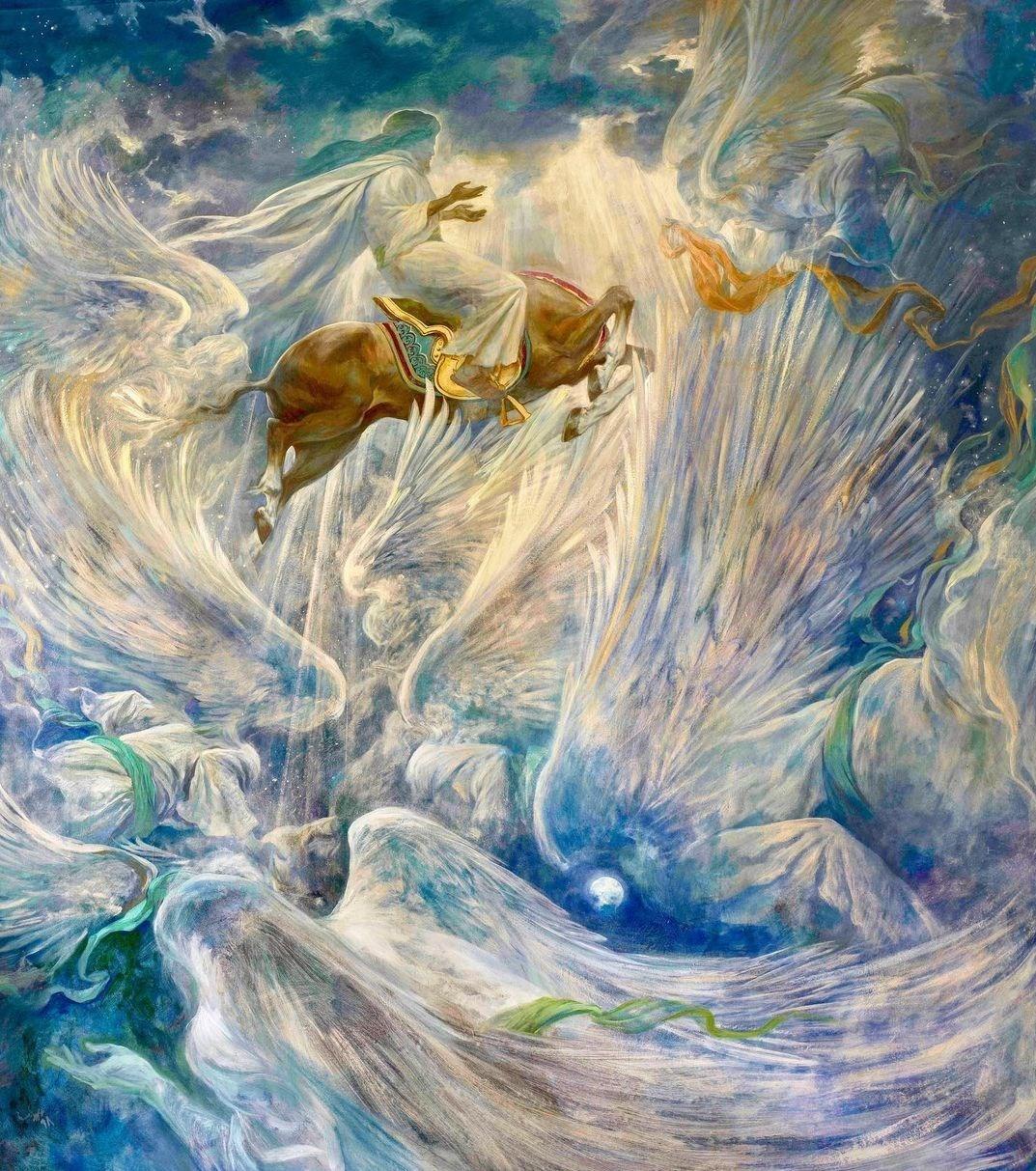 حسن روح الامین , هنرهای تجسمی , نقاشی , حضرت محمد (ص) , پیامبر(ص) ,