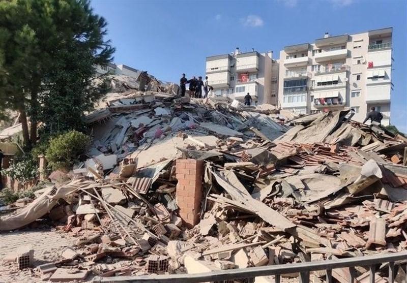 زمین لرزه 6.6 ریشتری در ازمیر ترکیه/ 4 کشته و 152 زخمی+ فیلم و عکس
