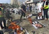 تظاهرات در غزه و کرانه باختری در محکومیت اهانت به پیامبر(ص)/ ماکرون در آتش خشم فلسطینیان سوخت