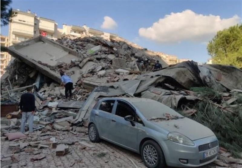 آخرین اخبار از زلزله ازمیر/۲۴ جان باخته و ۸۰۴ مجروح,