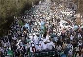 تظاهرات گسترده پاکستانیها مقابل سفارت فرانسه در اسلام آباد+عکس