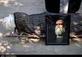 تشییع و خاکسپاری پیکر زندهیاد کریم اکبری مبارکه