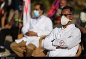 تجلیل از حافظان سلامت در حرم حضرت عبدالعظیم(ع) /سپاه خدمات کادر درمان را با اهدا گل ارج نهاد + فیلم