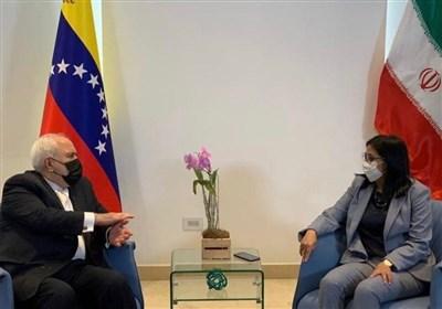دیدار ظریف با معاون رئیسجمهور ونزوئلا