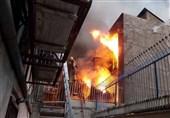 لحظه شعلهور شدن آتش در ساختمان 3 طبقه + فیلم و تصاویر