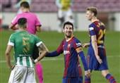 لالیگا  بارسلونا با اولین گل فصل مسی در جریان معمول بازی بتیس را در هم کوبید