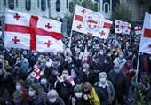تجمع طرفداران مخالفان در پایتخت گرجستان به خشونت کشیده شد